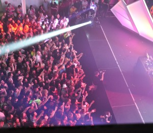 DJ Aoki and audience at Terminal 5, photograph by Cody Oyama