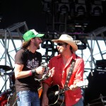 Micky Braun of Micky &amp; The Motorcars with brother Willy Braun of Reckless Kelly @ Watershed 8/5/12