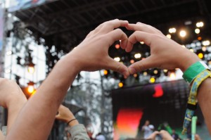 Lots of love at Rudimental's set at Outside Lands.